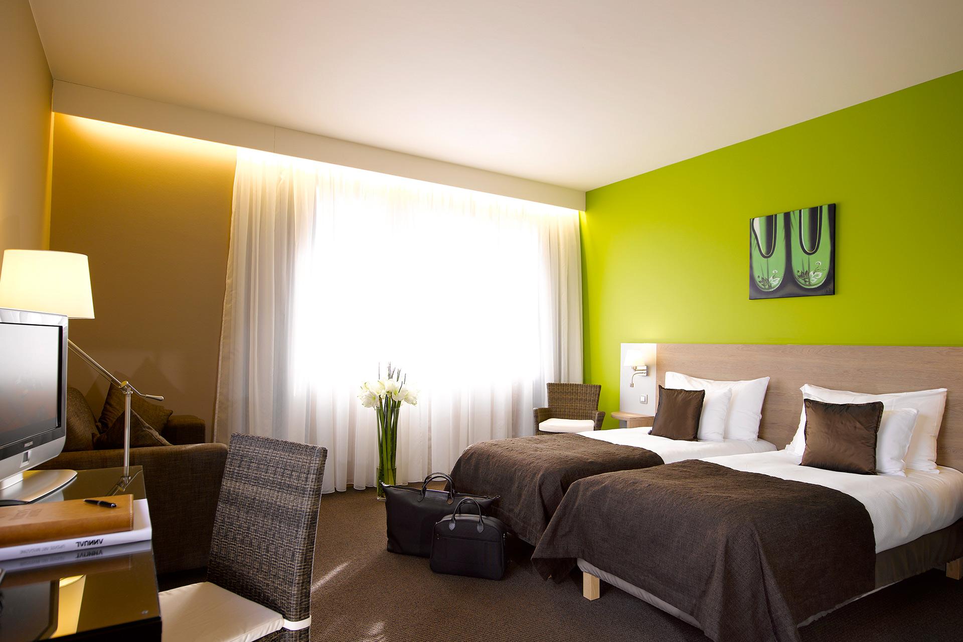 Golfexpedition-Golfreizen-België-Brussel-Waterloo-course-slaapkamer-groen